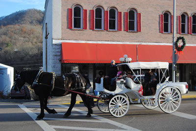 Horse and Carriage post with schedule
