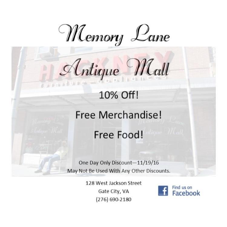Memory Lane Discount 110416